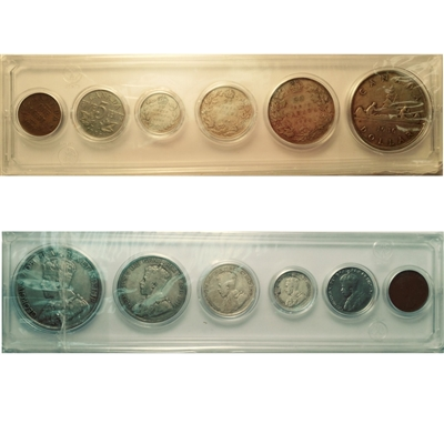 1936 Canada 6-coin Year Set in Snap Lock Case