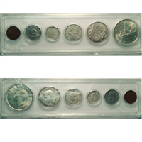1937 Canada 6-coin Year Set in Snap Lock Case