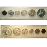 1938 Canada 6-coin Year Set in Snap Lock Case