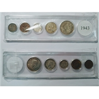 1943 Canada 5-coin Year Set in Snap Lock Case