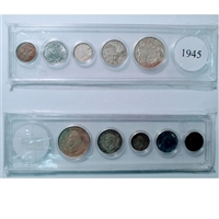 1945 Canada 5-coin Year Set in Snap Lock Case