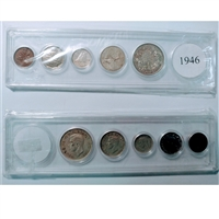 1946 Canada 6-coin Year Set in Snap Lock Case