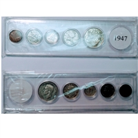1947 Canada 5-coin Year Set in Snap Lock Case