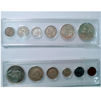 1949 Canada 6-coin Year Set in Snap Lock Case