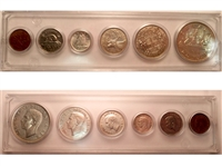 1950 Canada 6-coin Year Set in Snap Lock Case