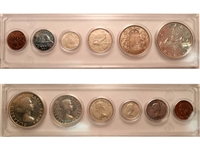 1954 Canada 6-coin Year Set in Snap Lock Case