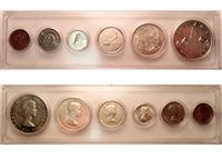 1955 Canada 6-coin Year Set in Snap Lock Case