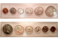 1957 Canada 6-coin Year Set in Snap Lock Case