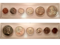 1958 Canada 6-coin Year Set in Snap Lock Case