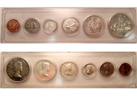 1959 Canada 6-coin Year Set in Snap Lock Case