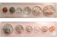 1960 Canada 6-coin Year Set in Snap Lock Case