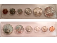 1961 Canada 6-coin Year Set in Snap Lock Case