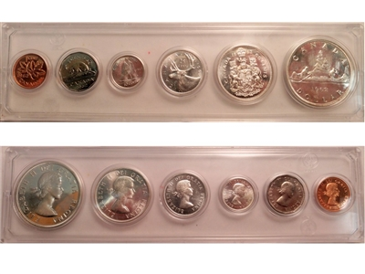 1962 Canada 6-coin Year Set in Snap Lock Case