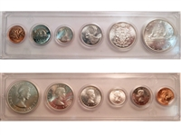 1963 Canada 6-coin Year Set in Snap Lock Case