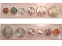 1965 Canada 6-coin Year Set in Snap Lock Case