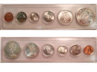 1966 Canada 6-coin Year Set in Snap Lock Case