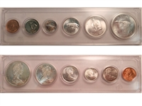 1967 Canada 6-coin Year Set in Snap Lock Case