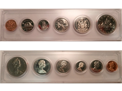 1968 Canada 6-coin Year Set in Snap Lock Case