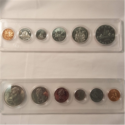 1969 Canada 6-coin Year Set in Snap Lock Case