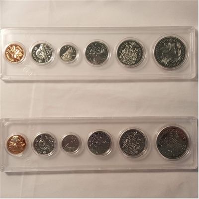 1970 Canada 6-coin Year Set in Snap Lock Case