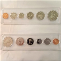 1972 Canada 6-coin Year Set in Snap Lock Case