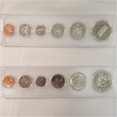 1973 Canada 6-coin Year Set in Snap Lock Case