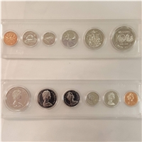 1974 Canada 6-coin Year Set in Snap Lock Case