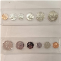 1975 Canada 6-coin Year Set in Snap Lock Case