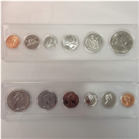 1976 Canada 6-coin Year Set in Snap Lock Case