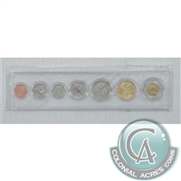 2006 Canada 7-coin Year Set in Snap Lock Case.