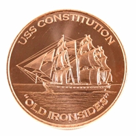 Pure .999 1oz. Fine Copper Round - USS Constitution (TAX Exempt) copper3