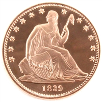 Pure Copper 1oz. .999 Fine Copper - Seated Liberty (No Tax) Copper7