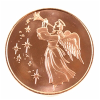 Pure .999 1oz. Fine Copper - Christmas Angel (No Tax)