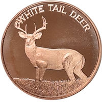 Pure Copper 1oz. .999 Fine - White Tail Deer (No Tax)