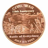 Pure .999 1oz. Fine Copper - Civil War: Battle of Gettysburg (No Tax)