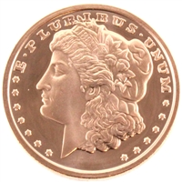 Pure Copper 1oz. .999 Fine Copper - Morgan Design # 29 (No Tax)