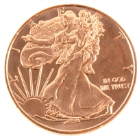 Pure Copper 1oz. .999 Fine Copper - Walking Liberty (Copper31) No Tax