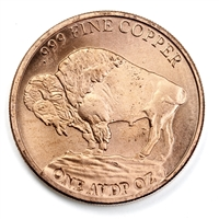 Pure Copper 1oz. .999 Fine - Benjamin Franklin $100 (No Tax)