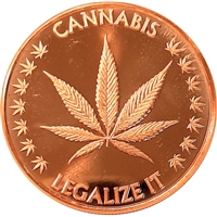 Cannabis Legalize It - 1oz. Pure Copper Round (No Tax)