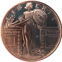 Pure Copper .999 Fine Copper - Standing Liberty (No Tax)