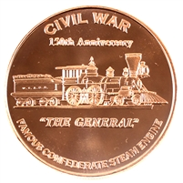 Pure Copper 1oz. .999 - Civil War - The General (No Tax)
