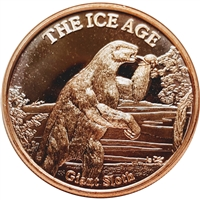 Pure Copper 1oz. .999 Fine - The Ice Age - Giant Sloth (TAX Exempt)