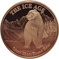 Pure Copper 1oz. .999 Fine - The Ice Age - Giant Short Faced Bear (TAX Exempt)