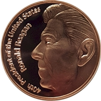 Pure Copper 1oz. .999 Fine - Ronald Reagan (TAX Exempt)