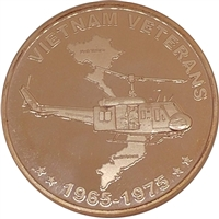 Pure Copper 1oz. Fine Copper - Vietnam Veterans (No Tax)