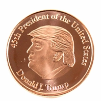 Pure Copper 1oz. .999 Fine Copper -  Donald Trump (No Tax)