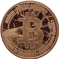 Pure Copper 1oz. .999 Fine - Bitcoin (No Tax)