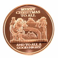 Pure Copper 1oz. .999 Fine Copper - Merry Christmas (Copper63) No Tax