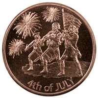 Pure Copper 1oz. .999 Fine Copper - Maple Leaf (No Tax)