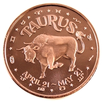 Pure Copper - Zodiac Taurus 1oz Fine Copper (No Tax)